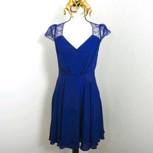 ASOS Navy Blue Lace Size 6 Party Dress
